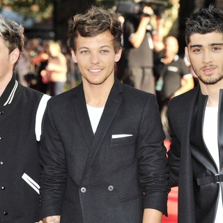 Niall Horan, Louis Tomlinson, Zayn Malik, One Direction in World Premiere of One Direction: This Is Us - Arrivals