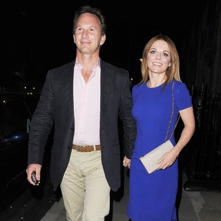 Christian Horner, Geri Halliwell in Geri Halliwell and Christian Horner Leave The Chiltern Firehouse