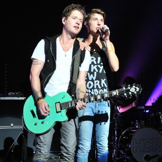 Nash Overstreet, Ryan Follese, Hot Chelle Rae in Hot Chelle Rae Performing at The Fillmore