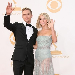 Derek Hough, Julianne Hough in 65th Annual Primetime Emmy Awards - Arrivals