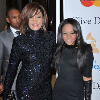 Whitney Houston, Bobbi Kristina Brown in 2011 Pre-Grammy Gala and Salute to Industry Icons Honoring David Geffen - Arrivals