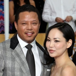 Terrence Howard, Miranda Howard in The 20th Annual Screen Actors Guild Awards - Arrivals