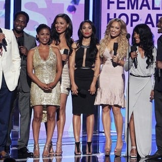 Terrence Howard, Harold Perrineau, Nia Long, Sanaa Lathan, Regina Hall, Melissa De Sousa, Monica Calhoun, Morris Chestnut in The 2013 BET Awards - Inside