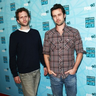 Glenn Howerton, Rob McElhenney in Fox TCA Summer Party