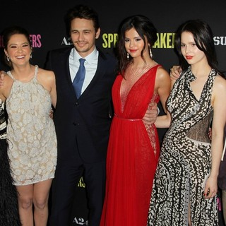 Vanessa Hudgens, Ashley Benson, James Franco, Selena Gomez, Rachel Korine, Harmony Korine in The Los Angeles Premiere of Spring Breakers - Arrivals