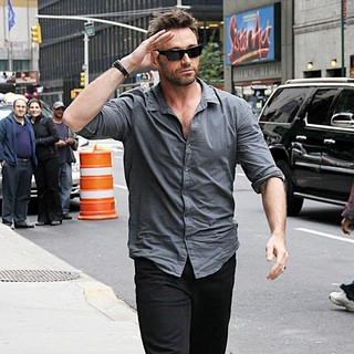 Hugh Jackman in Hugh Jackman Arrives for The Late Show with David Letterman