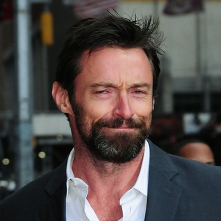 Hugh Jackman in Celebrities for The Late Show with David Letterman