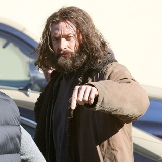 Hugh Jackman in On The Set of Movie The Wolverine
