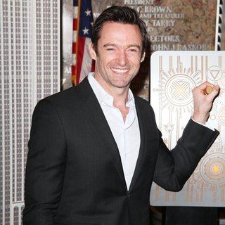 Hugh Jackman Illuminate The Empire State Building in Green and Gold for Australia Day