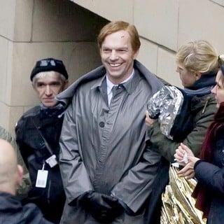 Hugo Weaving in On The Film set of Cloud Atlas Shooting on Location in Glasgow - hugo-weaving-on-the-film-set-of-cloud-atlas-01