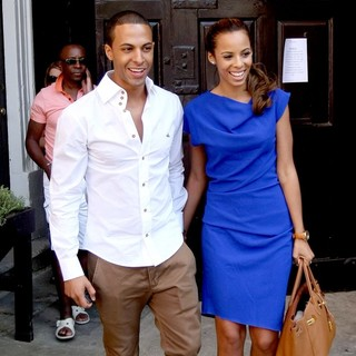 Marvin Humes, Rochelle Wiseman in Marvin Humes and Rochelle Wiseman Leaving Their Hotel