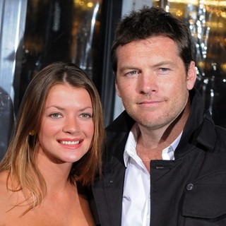 Crystal Humphries, Sam Worthington in Premiere of Man on a Ledge