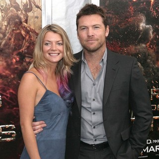Crystal Humphries, Sam Worthington in The World Premiere of Wrath of The Titans