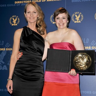 Helen Hunt, Lena Dunham in 65th Annual Directors Guild of America Awards - Press Room