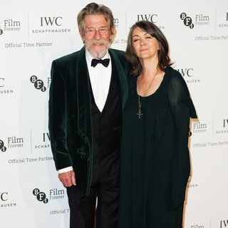 John Hurt, Ann Rees Meyers in IWC Schaffhausen Gala Dinner for 57th BFI London Film Festival