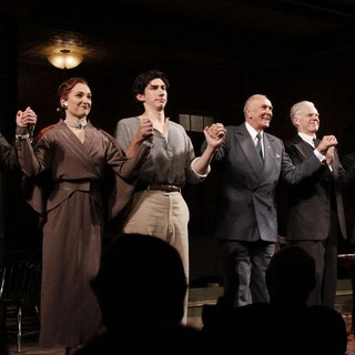 Brian Hutchison, Francesca Faridany, Adam Driver, Frank Langella, Michael Siberry, Zach Grenier, Virginia Kull in Opening Night of The Broadway Play Man and Boy