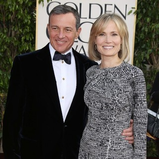 Robert Iger, Willow Bay in 70th Annual Golden Globe Awards - Arrivals