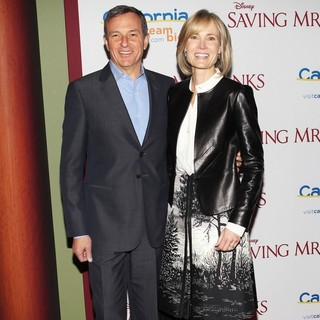 Bob Iger, Willow Bay in Saving Mr. Banks Los Angeles Premiere