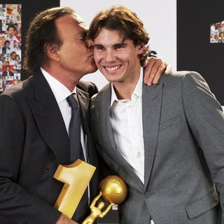 Julio Iglesias, Rafael Nadal in Julio Iglesias Receives His Award for Most Sold Records in Spain