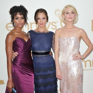 Annie Ilonzeh, Minka Kelly, Rachael Taylor in The 63rd Primetime Emmy Awards - Arrivals