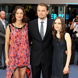 Marion Cotillard, Leonardo DiCaprio, Ellen Page in The UK Premiere of Inception - Arrivals