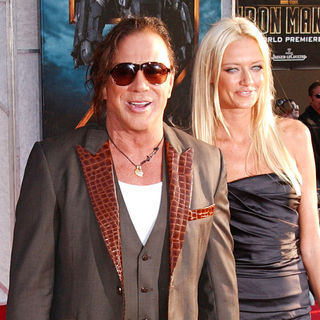 Mickey Rourke, Anastassija Makarenko in The 'Iron Man 2' World Premiere