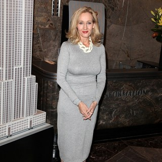 J.K. Rowling in J.K. Rowling Illuminates The Empire State Building