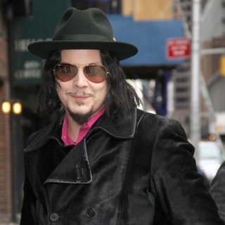 Jack White in Celebrities at The Ed Sullivan Theater for The Late Show with David Letterman