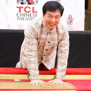 Jackie Chan in Jackie Chan Is Honoured with A Hand and Foot Print Ceremony