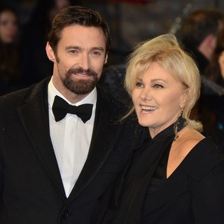 Hugh Jackman, Deborra-Lee Furness in The 2013 EE British Academy Film Awards - Arrivals