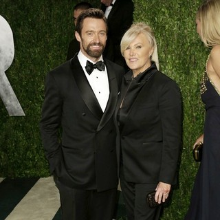 Hugh Jackman in 2013 Vanity Fair Oscar Party - Arrivals - jackman-furness-2013-vanity-fair-oscar-party-02