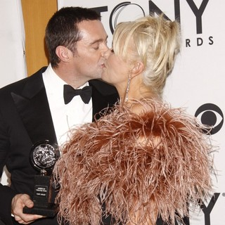 Hugh Jackman, Deborra-Lee Furness in The 66th Annual Tony Awards - Press Room