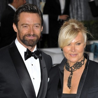 Hugh Jackman, Deborra-Lee Furness in The 85th Annual Oscars - Red Carpet Arrivals