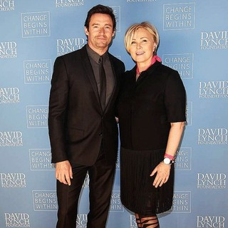 Hugh Jackman, Deborra-Lee Furness in David Lynch Foundation Gala