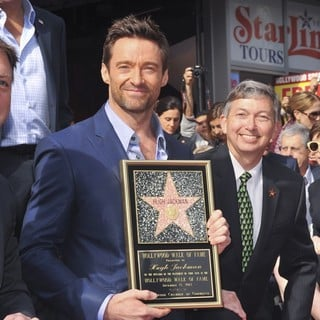 Hugh Jackman, Leron Gubler in Hugh Jackman Is Honoured with A Hollywood Star on The Hollywood Walk of Fame