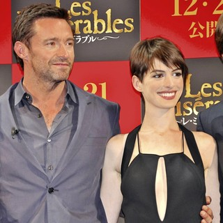 Hugh Jackman, Anne Hathaway in The Japan Premiere of Les Miserables