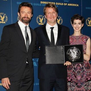 Hugh Jackman, Tom Hooper, Anne Hathaway in 65th Annual Directors Guild of America Awards - Press Room