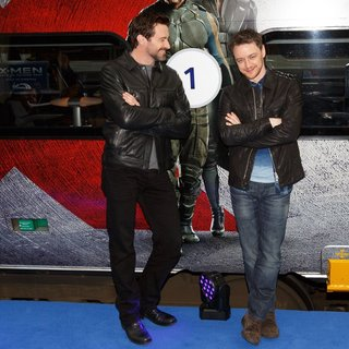 Hugh Jackman, James McAvoy in Virgin Trains and Twentieth Century Fox Unveil An X-MEN Themed Pendolino Train