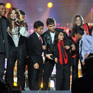 Jermaine Jackson, La Toya Jackson, Prince Jackson, Prince Michael II, Paris Jackson in Michael Jackson Tribute Concert Held at The Cardiff Millenium Stadium