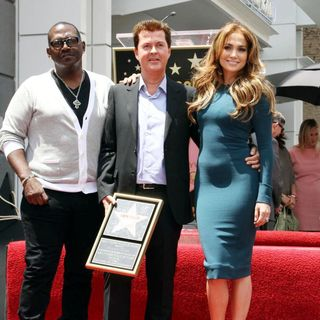 Randy Jackson, Simon Fuller, Jennifer Lopez in Simon Fuller Receives A Star on The Hollywood Walk of Fame