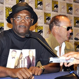 Samuel L. Jackson, Michael Keaton in Comic-Con International 2013 -Robocop - Press Conference