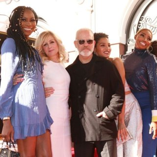 Dominique Jackson, Judith Light, Ryan Murphy, Indya Moore, NeNe Leakes, Angela Bassett, Peter Krause in Ryan Murphy Is Honoured with A Star on The Hollywood Walk of Fame