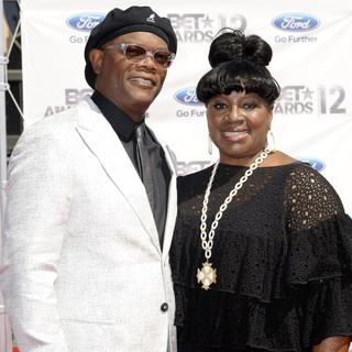 Samuel L. Jackson, LaTanya Richardson in The BET Awards 2012 - Arrivals