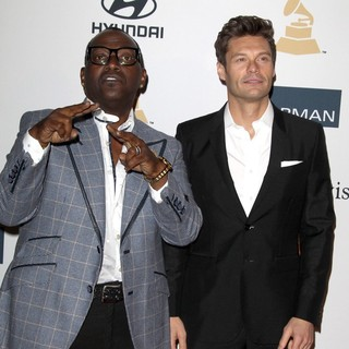 Randy Jackson, Ryan Seacrest in Clive Davis and The Recording Academy's 2013 Pre-Grammy Gala and Salute to Industry Icons