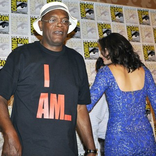 Samuel L. Jackson, Cobie Smulders in Comic-Con International 2013 - Captain America: The Winter Soldier - Press Conference