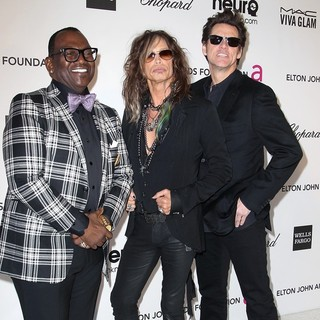 Randy Jackson, Steven Tyler, Jim Carrey in 21st Annual Elton John AIDS Foundation's Oscar Viewing Party