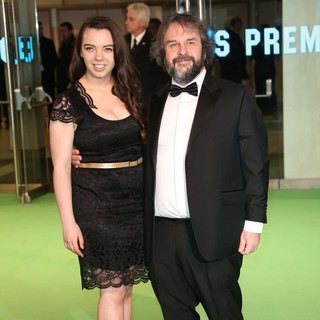Katie Jackson, Peter Jackson in The Hobbit: An Unexpected Journey - UK Premiere - Arrivals