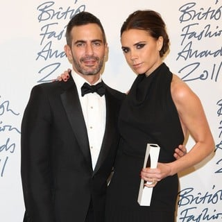 Marc Jacobs, Victoria Adams in British Fashion Awards 2011 - Press Room