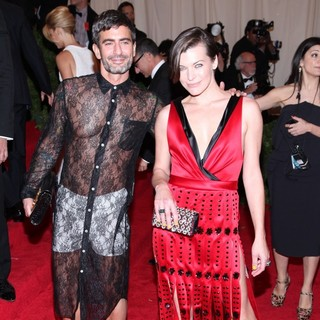 Marc Jacobs, Milla Jovovich in Schiaparelli and Prada Impossible Conversations Costume Institute Gala