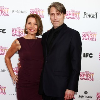 Hanne Jacobsen, Mads Mikkelsen in 2013 Film Independent Spirit Awards - Arrivals